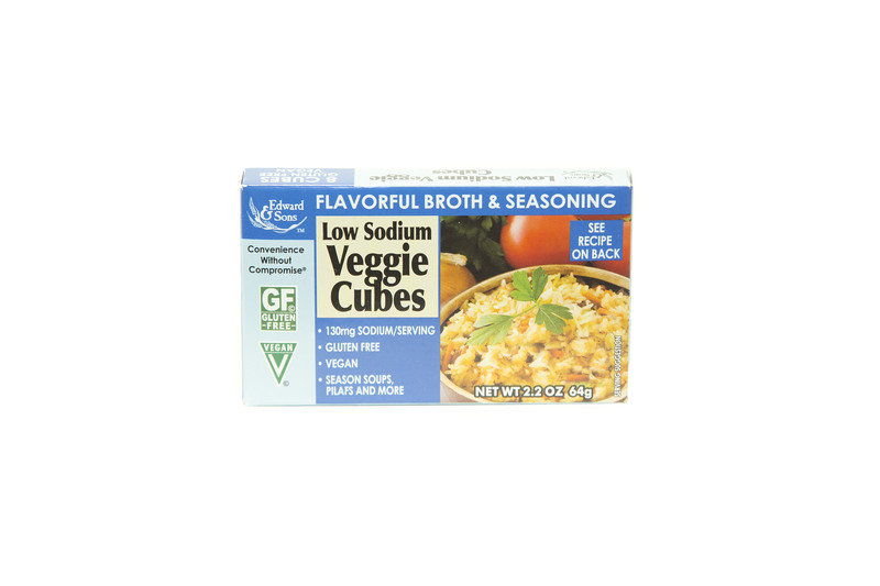 Edward & Sons Low Sodium Veggie Cubes