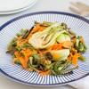 Roasted Bok Choy, Carrot & Green Bean Salad