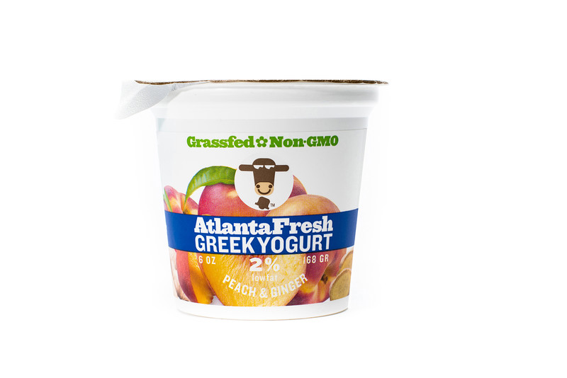AtlantaFresh Artisan Creamery 6 oz Peach Ginger 2% Yogurt