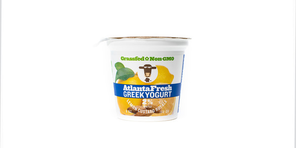 Twelve AtlantaFresh Artisan Creamery 6 oz Lemon Custard 2% Yogurt