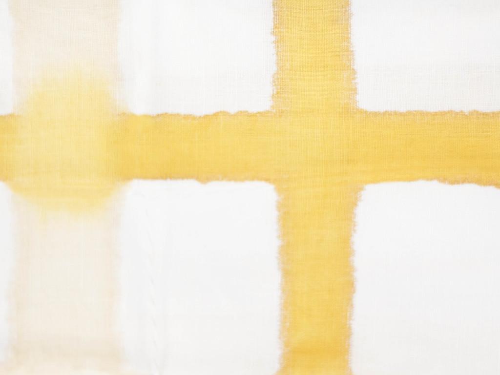 A Sensible Habit Cotton Tea Towel - Cream & Mustard