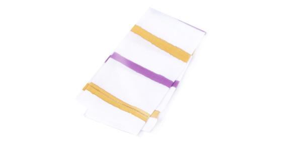 A Sensible Habit Linen Napkin Set - Plum & Mustard