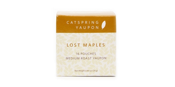 CatSpring Yaupon Lost Maples Medium Roast Yaupon Tea, 16 pouches