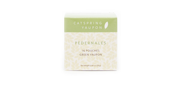 CatSpring Yaupon Pedernales Green Yaupon Tea, 16 pouches
