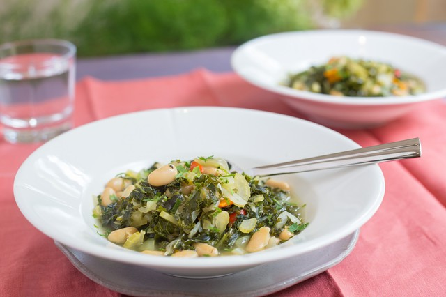 White Bean Stew with Lacinto Kale