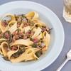 Mustard Greens & Tasso Potlikker with Noodles