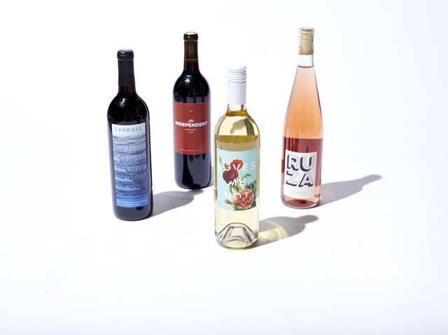 Winc wine bottles