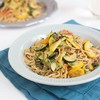 Whole Wheat Linguini with Summer Squash & Cherry Tomatoes