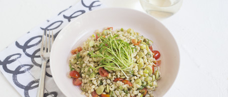 Butter Bean & Barley Bowl with Tomatoes & Pepitas