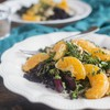 Sautéed Broccolini with Beet Rice, Citrus & Cashews