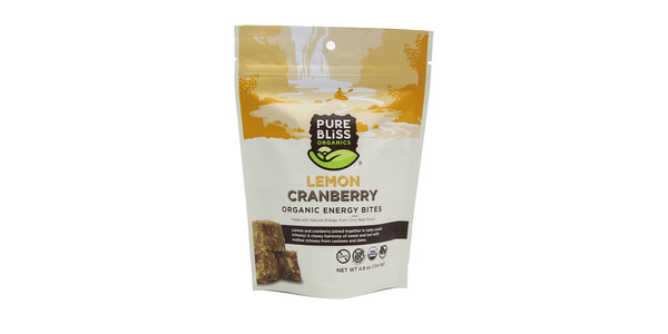 Pure Bliss Lemon Cranberry Energy Bites