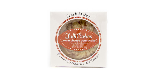 "JudiCakes 4"" Peach Melba Cream Cheese Pound Cake"