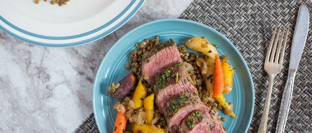 Herbed Bistro Filet with Lentils & Carrots