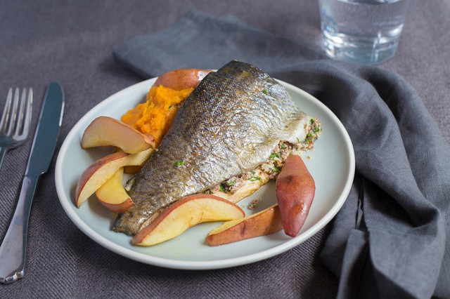 Pecan-Stuffed Trout