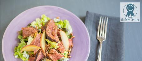 Blackened Flank Steak Salad with Blue Cheese & Sweet Garlic Dressing