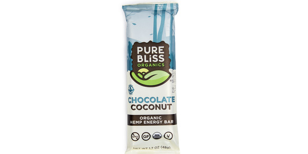 Pure Bliss Chocolate Coconut Hemp Energy Bar