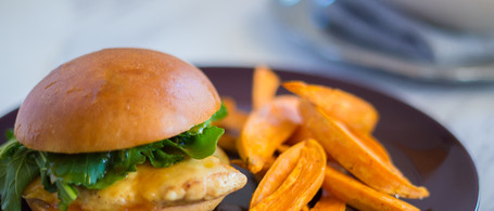 Tangy-Sweet Chicken Sandwich with Fontina Cheese
