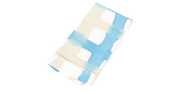A Sensible Habit Tea Towel Set- Turquoise & Cream