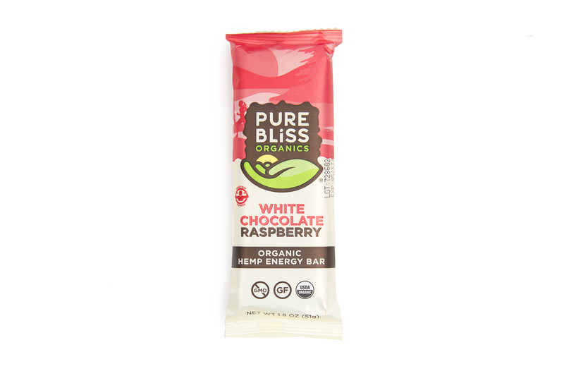 Pure Bliss White Chocolate Raspberry Hemp Energy Bar