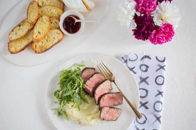 Filet Mignon over Buttery Mashed Potatoes- Date Night Kit