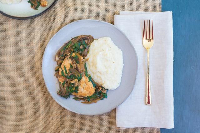 Spinach & Mushroom Smothered Chicken