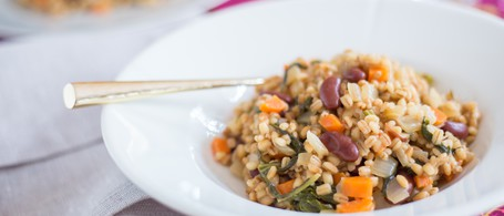 Barley Risotto with Beans & Greens
