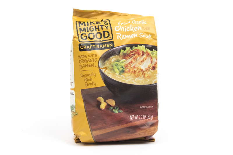 Mike's Mighty Good Fried Garlic Chicken Ramen Soup