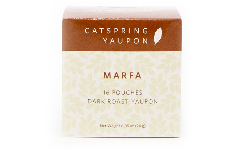 CatSpring Yaupon Marfa Dark Roast Yaupon Tea, 16 pouches