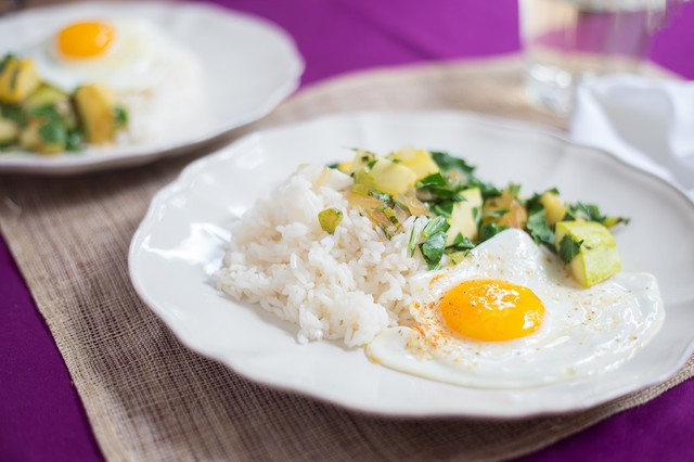 Sauteed Summer Squash with Sunny Side Up Egg