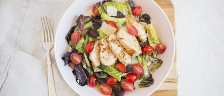 Chicken, Bacon & Tomato Salad with Parmesan Dressing