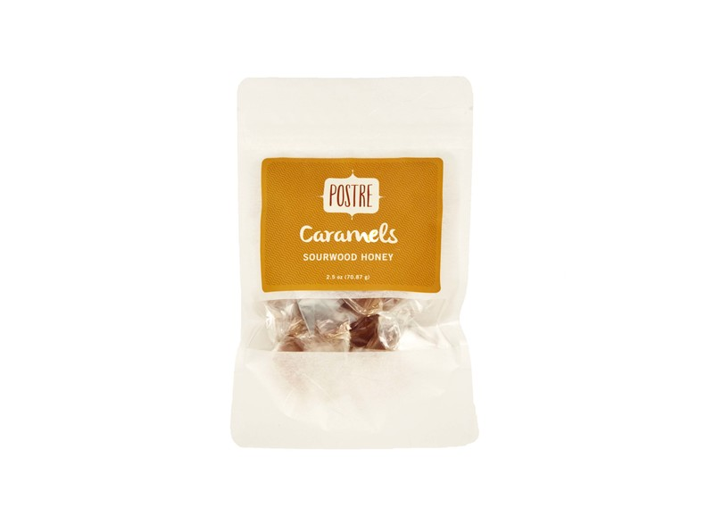 Postre Sourwood Honey Caramels