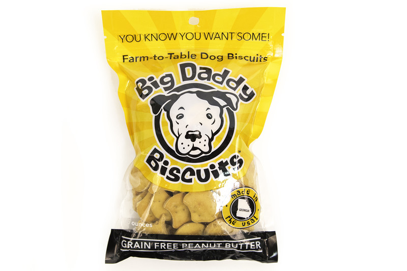 Big Daddy Dog Biscuits All-Natural Grain Free Peanut Butter Dog Biscuits