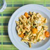 Orecchiette with Yellow Wax Beans, Sun Gold Tomatoes & Roasted Garlic