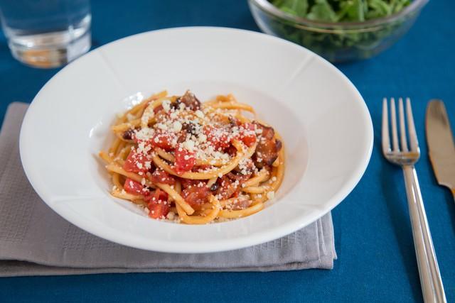 Bucatini Pasta with Tomato
