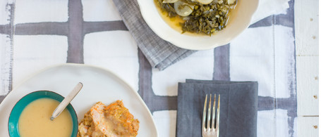Turkey Meatloaf with Pepper-Jelly Collards & Potlikker Gravy