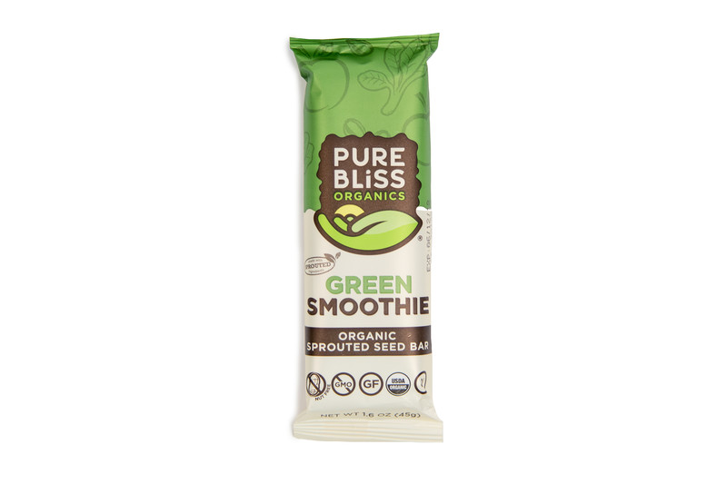 Pure Bliss Green Smoothie Sprouted Energy Bar
