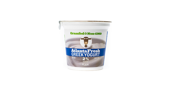 Twelve AtlantaFresh Artisan Creamery 6 oz Plain 2% Yogurt