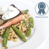 Wild-Caught Sockeye Salmon with Sugar Snap Peas, Fregola & Herbed Ricotta
